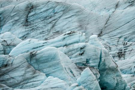 Vergrößern Sie die Textur des Eisbergs in Island