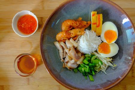sea food salad south thai culture food on the plate Stock Photo