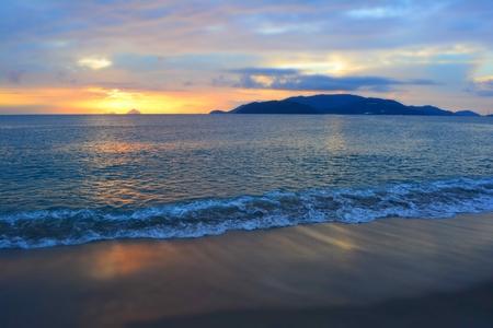 Beautiful sunrise over Nha Trang bay, Vietnam