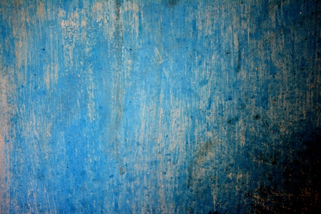 Old Blue wall with stains