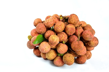 A bunch of ripe Litchis
