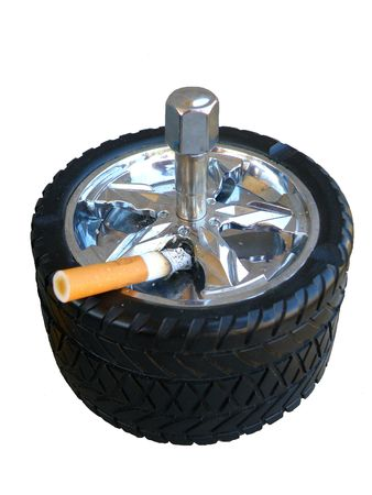 tyre ash tray Stock Photo - 3734083