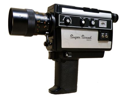 operated: 8 mm camera Stock Photo