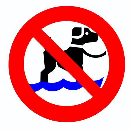 regulate: no dog sign