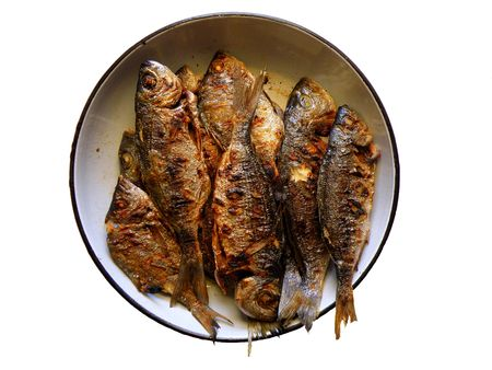 griller: Grilled seafood (fish) isolated
