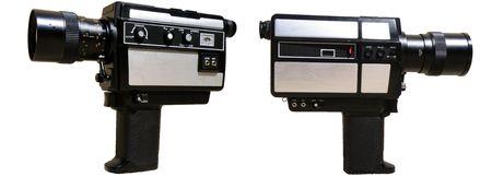 8 mm film camera isolated on white background Stock Photo - 3776340