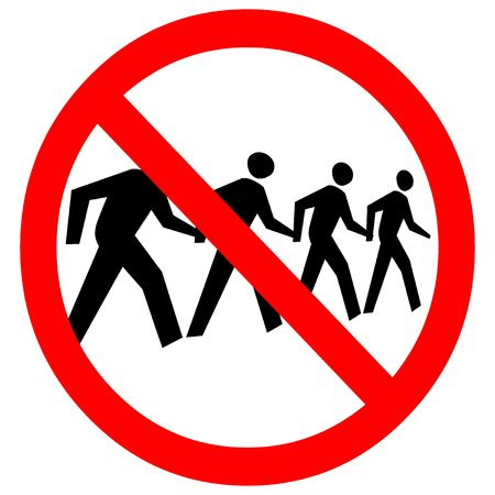 trespassing: no trespassing sign