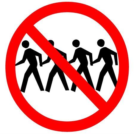 no trespassing: allanamiento no firmar Foto de archivo