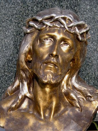 jesus prayer: estatua de Jes�s
