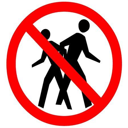 no trespassing: Prohibido el paso signo aislado sobre fondo blanco Foto de archivo