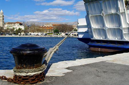 ferryboat: ferryboat in Split Stock Photo