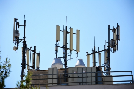 Element of communication devices, big  antennas mounted on a roof