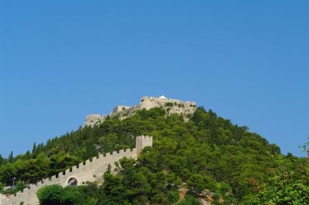 Fortress Spanjoa in Hvar popular touristic resort in Croatia