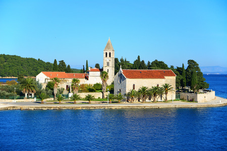 Vis town on island in Croatia