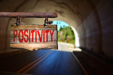 positivity: Positivity sign with blurred background
