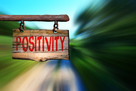 spiritual energy: Positivity sign with blurred background