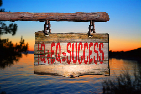 phrase: Success motivational phrase sign on old wood with blurred background