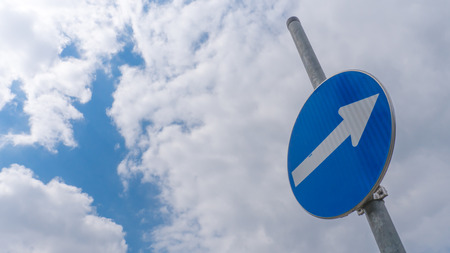 one lane sign: One-way traffic sign - road sign background