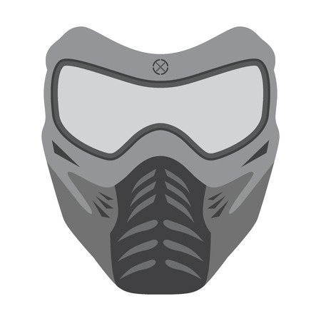 wear mask: illustration of paintball mask