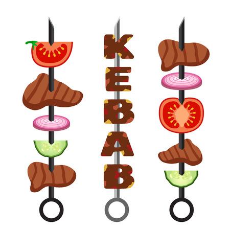 Set of kebab Ilustração