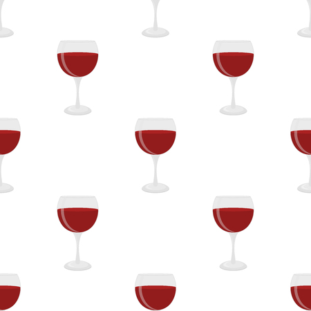 burgundy: Seamless pattern of glass for wine, merlot, cabernet, sangria. Cocktail glassware. Cartoon flat style. Illustration