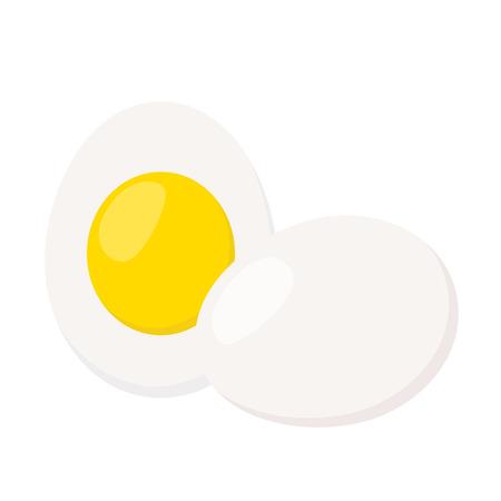 Eggs in cartoon flat style. Healthy protein nutrition. Fresh farm egg.
