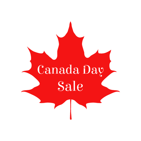 first nations: Happy Canada day vector sale card. Sticker for markets, shops. Great for banner, poster, disscount