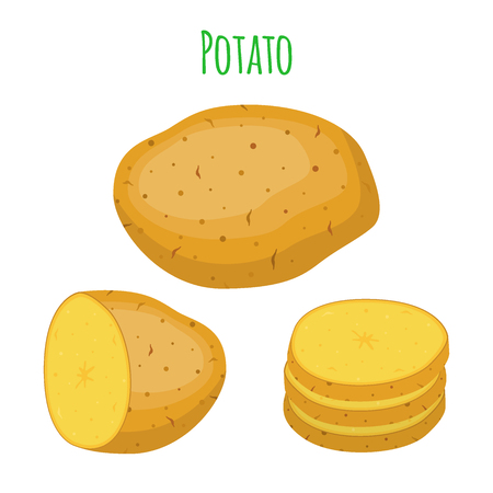 Potatoes set Ilustracja