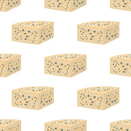 ベクトルゴルゴンゾーラシームレスパターン、イタリアのブルーチーズ、脱脂牛乳から作られました。インターネット、デザインのための漫画フラ  イラスト・ベクター素材