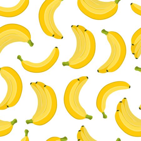 Vector seamless pattern of bananas Illustration