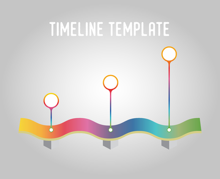 Vector timeline template, in different colours, gradient. Design element for infographics, strategy, planning steps, stages.
