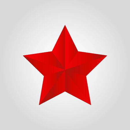 Vector realistic red star - Christmas element for celebration