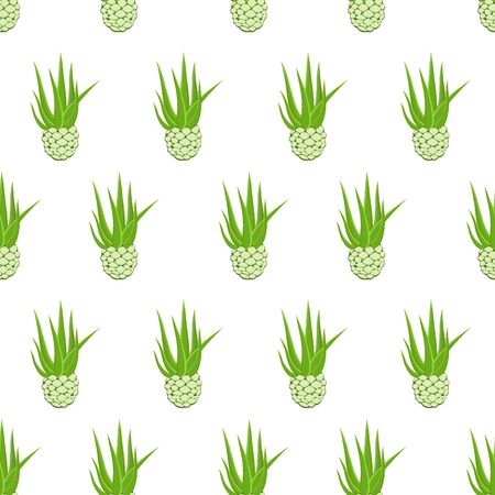 Vector seamless pattern with agave root and leaves Ilustração