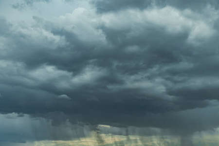 Thunderclouds. Rain. The approach of the storm.