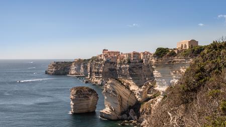 Corse Bonifacio an old town on the cliff Stock Photo