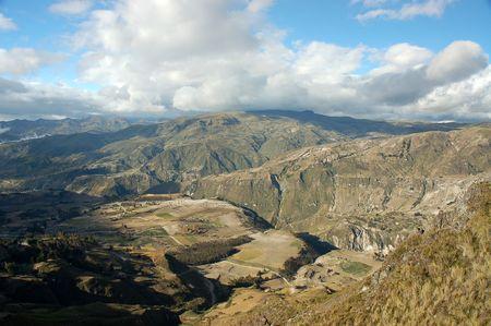 Landscape near Quilotoa lagoon,Ecuador
