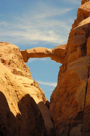 Burdah Arch in Wadi Rum, Jordan.
