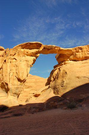 Rock Arch in Wadi Rum, Jordan.