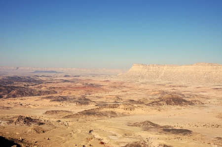 canyon negev: Ramon Crater in Negev desert, Israel. Stock Photo