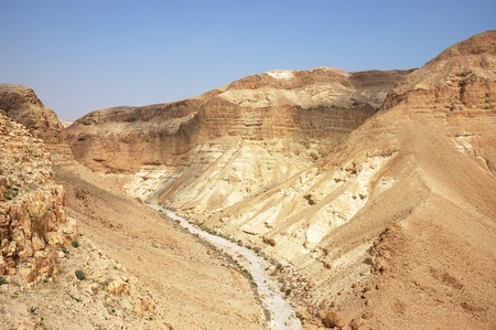 Zeelim wadi in Judea desert, Israel. Stock Photo