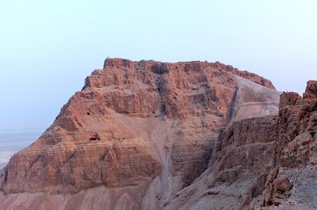 masada: Evening view of Masada stronghold, Israel.