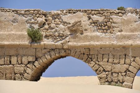 Aqueduct in Caesarea, Israel. photo