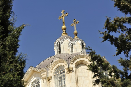 Dome of Russian orthodox church in Jerusalem. Stock Photo - 10739531