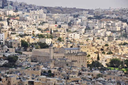 palestine: Ancient part of Hebron city - Kasbah and Patriarchs Cave.