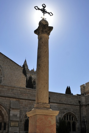 Pillar in St. Georges cathedral, East Jerusalem. Stock Photo - 10739524