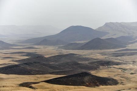 Crater Ramon in Negev desert, Israel. Stock Photo