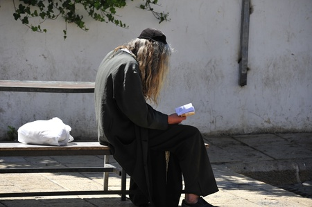 hassidic: Jewish man praying. Stock Photo