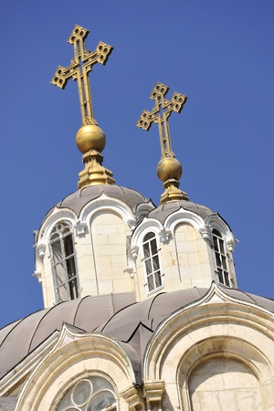 Dome of Russian orthodox church in Jerusalem.