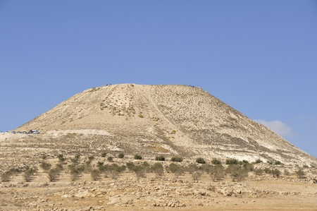 Herodium fortress in Judea desert, Israel Stock Photo