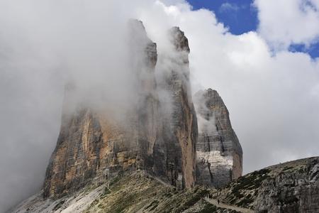 Tre Cime di Lavaredo in Italian Dolomites. photo